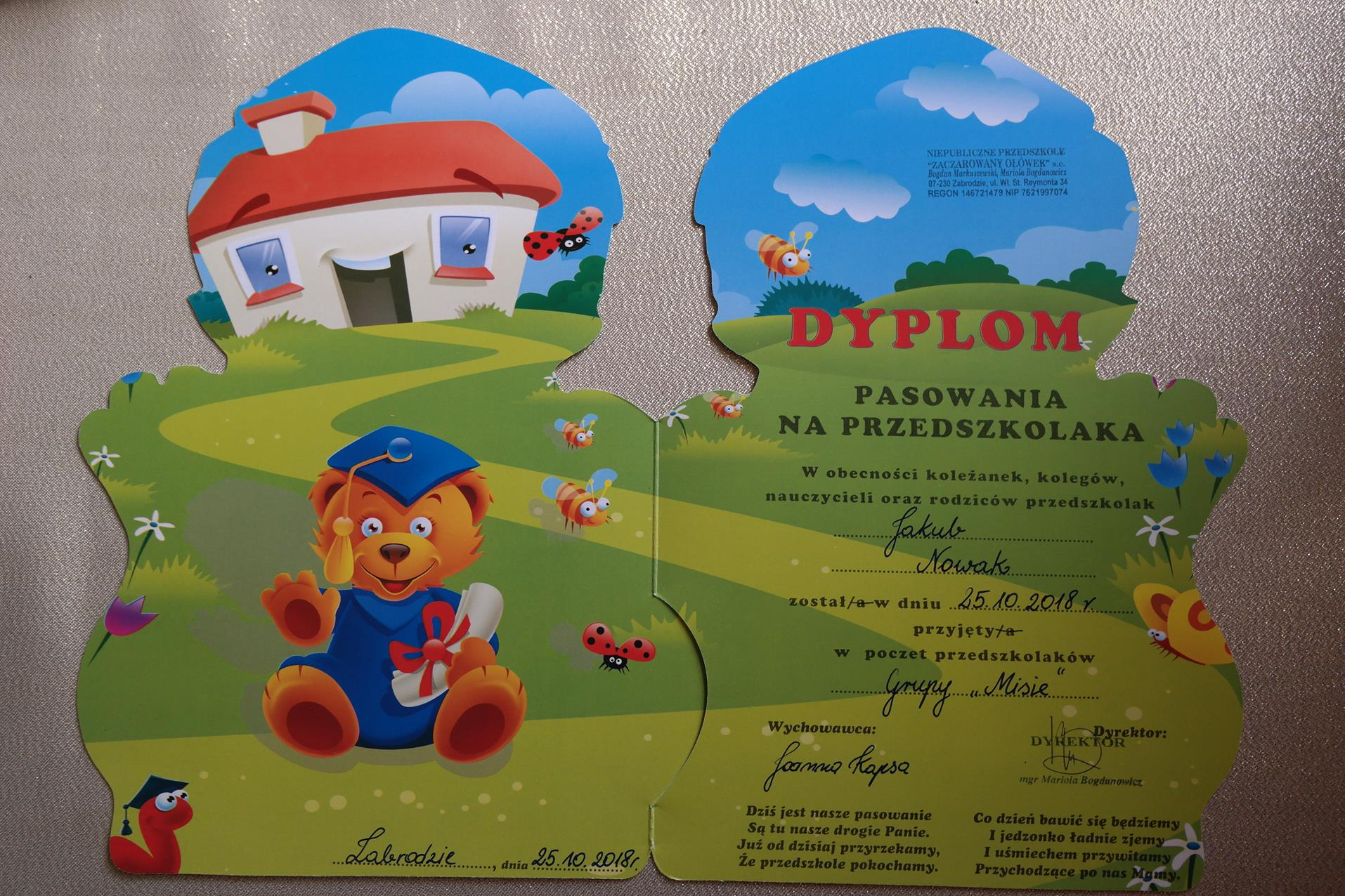 Zaczarowany Ołówek Strona Główna Przedszkola